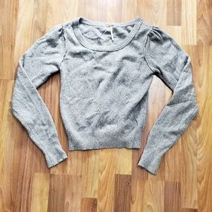 Free People Gray Knit Cozy Sweater
